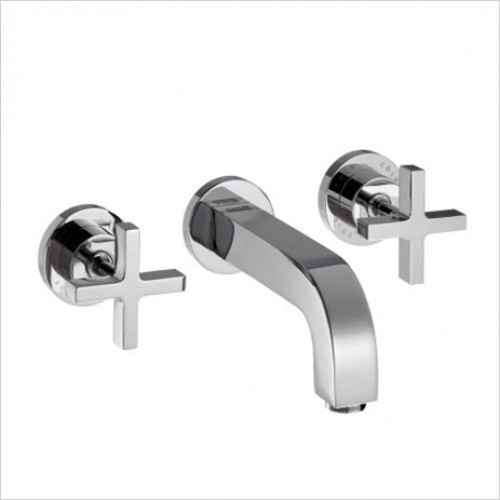 Hansgrohe - Axor Citterio Crosshead 3 Hole Wall Basin Mixer Without Plat