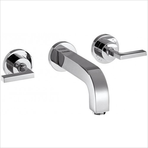 Hansgrohe - Axor Citterio Lever 3 Hole Wall Basin Mixer Without Plate