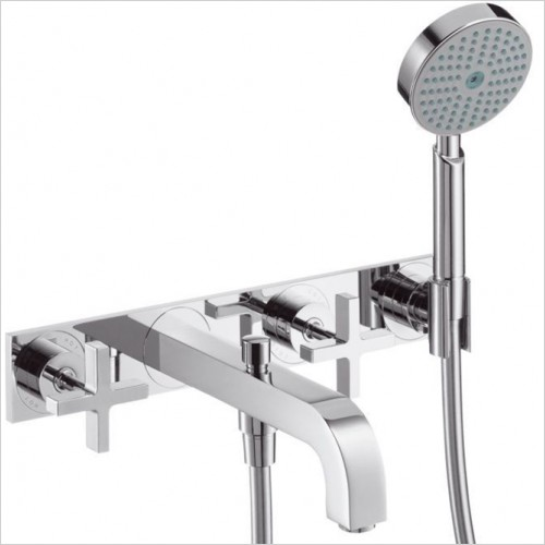 Hansgrohe - Axor Citterio Crosshead 3 Hole Bath Shower Mixer With Plate