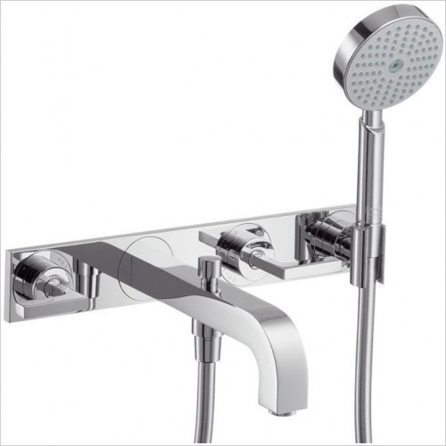 Hansgrohe - Axor Citterio Lever 3 Hole Bath Shower Mixer With Plate