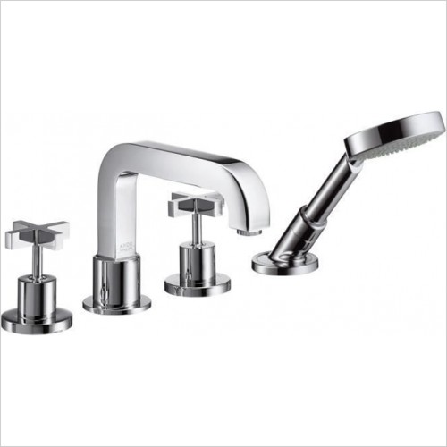 Hansgrohe - Axor Citterio Crosshead 4 Hole Bath Shower Set Without Plate