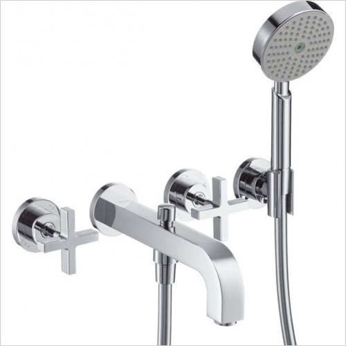 Hansgrohe - Axor Citterio Crosshead 3 Hole Bath Shower Mixer Without Pla