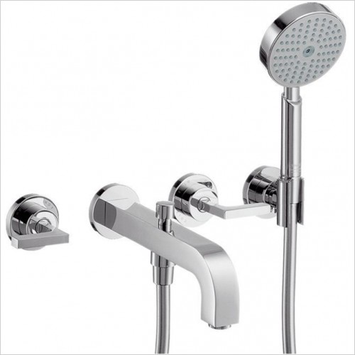 Hansgrohe - Axor Citterio Lever 3 Hole Bath Shower Mixer Without Plate