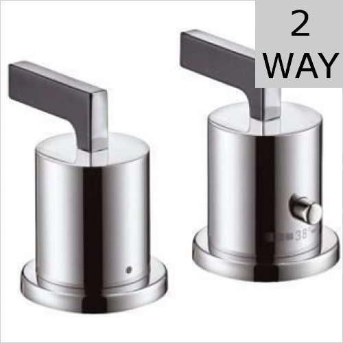 Hansgrohe - Axor Citterio Lever 2 Hole Thermostatic Bath Mixer