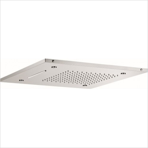 Crosswater - Square Multifunction Recessed Shower Head 500mm