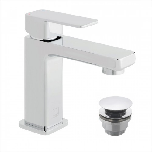 Vado - Phase Mini Mono Basin Mixer With Universal Waste