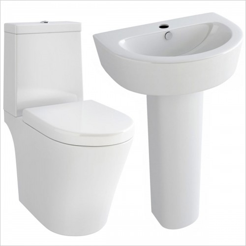 Park Street Bathrooms - Dream Close Coupled WC, Basin & Full Pedestal
