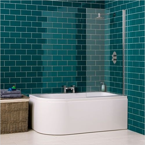 Carron - Status Shower Bath 1550 x 850mm, 5mm LH