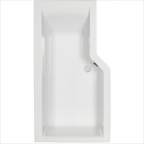 Carron - Urban Edge Shower Bath 1575 x 845mm, 5mm LH