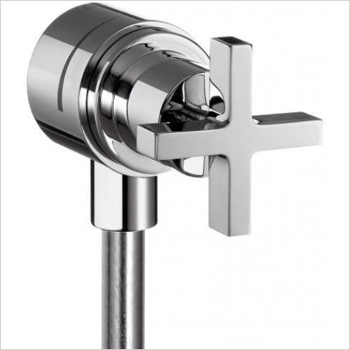 Hansgrohe - Axor Citterio Crosshead Fixfit Wall Outlet With Shut Off Val