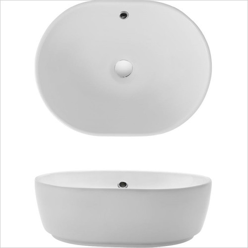 Crosswater - Pearl Counter Basin 450 x 350mm, With Overflow