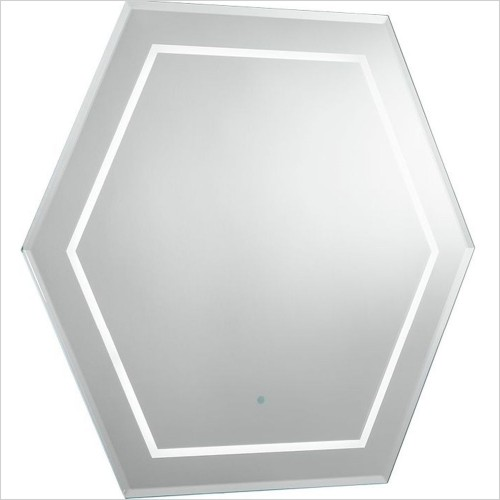 Bauhaus - Waldorf Illuminated Mirror 600x600mm