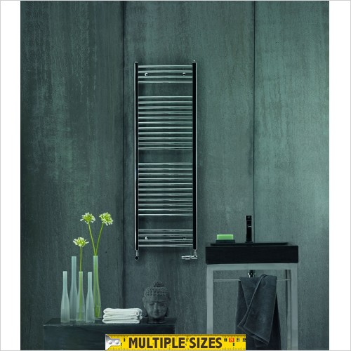 Zehnder - Aura Straight Chrome Towel Rail 775 x 500mm