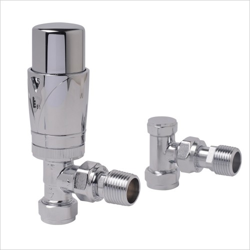 Zehnder - Valve Set 22 Thermostatic Angled Valve Set