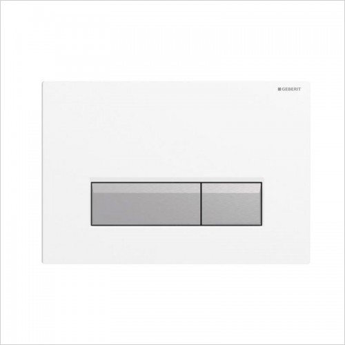 Geberit - Sigma 40 Dual Flush Plate With Integrated Odour Extraction