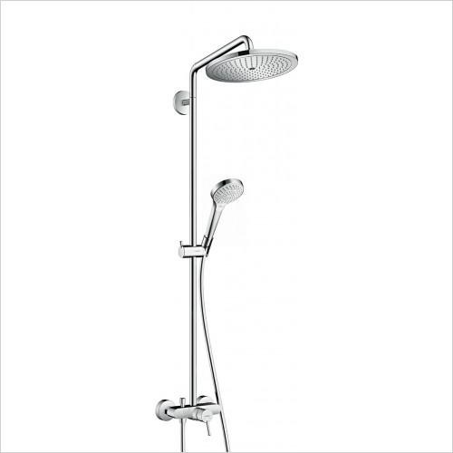 Hansgrohe - Croma Select S 280 Air 1 Jet Showerpipe, Single Lever Mixer