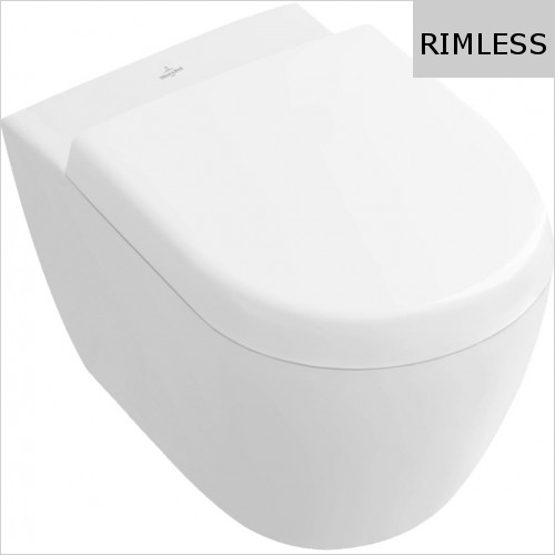 Villeroy & Boch - Subway 2.0 Washdown Wc Compact, Rimless 355 X 480mm