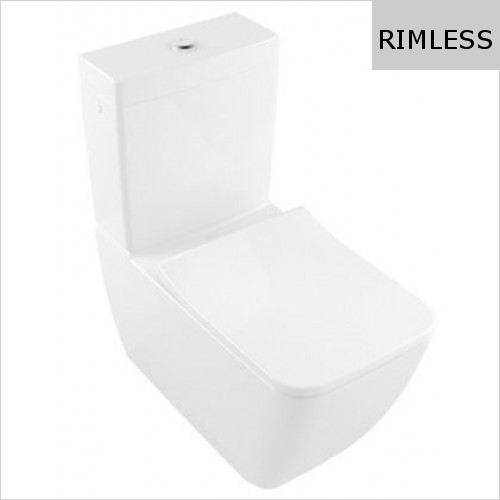 Villeroy & Boch - Legato Close Coupled Back To Wall Rimless WC