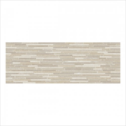 Park Street Bathrooms - Bergamo Almond Matt Ceramic Decor Wall Tile 700 x 250mm