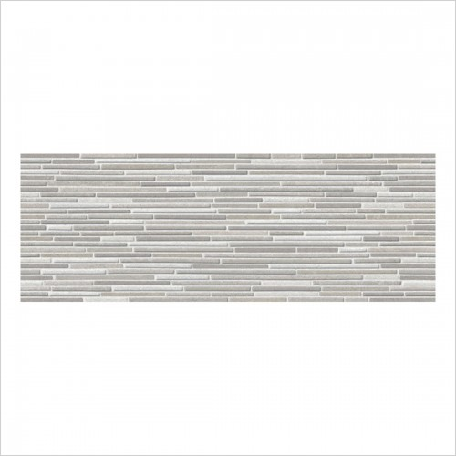 Park Street Bathrooms - Bergamo Grey Matt Ceramic Decor Wall Tile 700 x 250mm