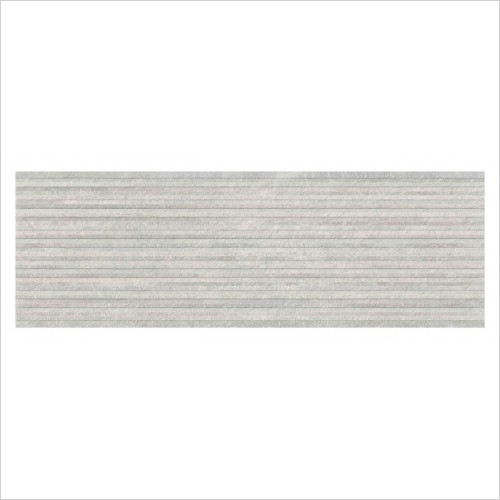 Park Street Bathrooms - Basilica White Matt Ceramic Decor Wall Tile 900 x 300mm