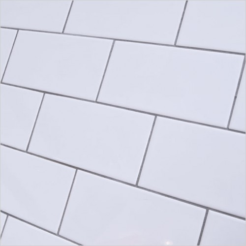 Park Street Bathrooms - Metro Flat White Gloss Ceramic Wall Tile 200 x 100mm