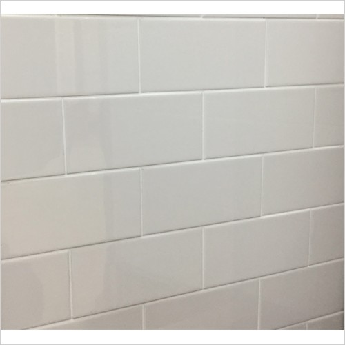 Park Street Bathrooms - Metro Flat Cream Gloss Ceramic Wall Tile 200 x 100mm