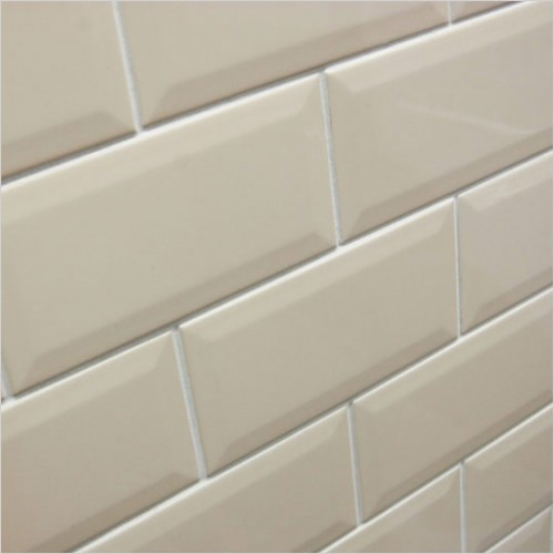 Park Street Bathrooms - Metro Cream Bevelled Gloss Ceramic Wall Tile 200 x 100mm