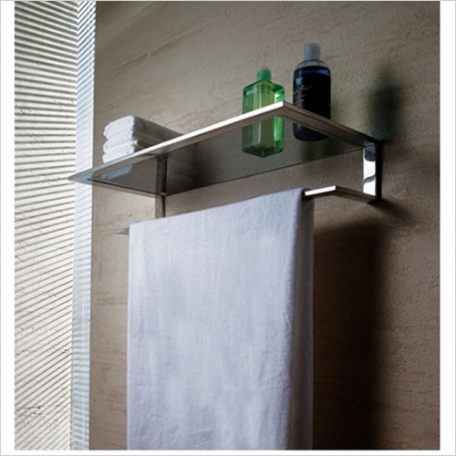 Art Of Living - Pure Stainless Steel Shelf Towel Bar