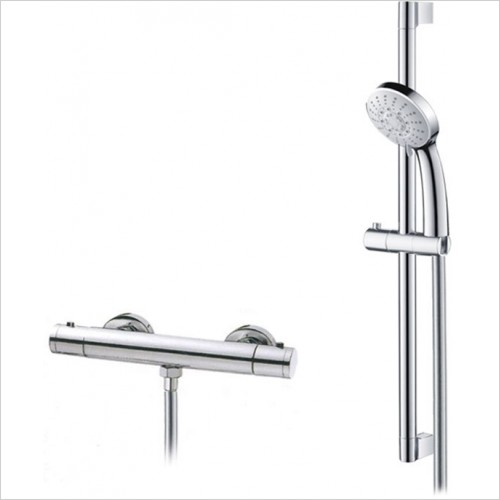 Art Of Living - Emotion Exposed Thermostatic Bar Shower & Riser Rail