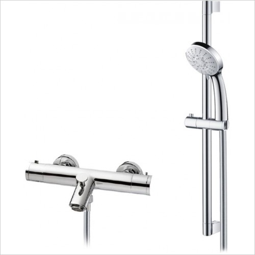 Art Of Living - Emotion Exposed Thermostatic Bath Shower Mixer & Riser Rail