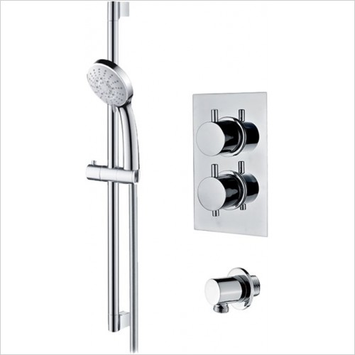 Art Of Living - Emotion Round Thermostatic Shower & Riser Rail Kit