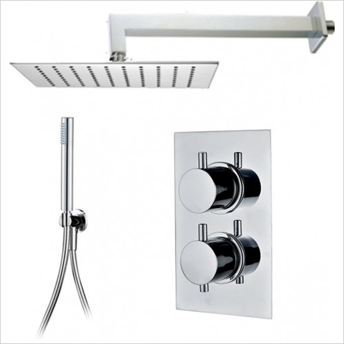 Art Of Living - Emotion Round Thermostatic Shower, Square Head & Handshower