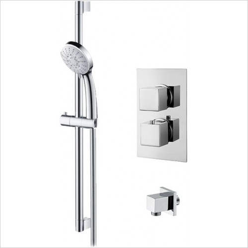 Art Of Living - Emotion Square Thermostatic Shower & Riser Rail Kit