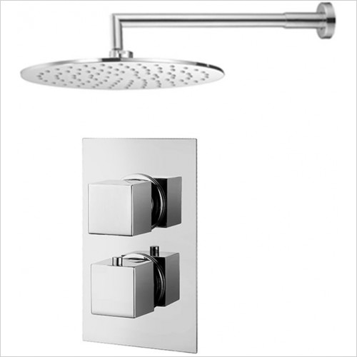 Art Of Living - Emotion Square Thermostatic Shower & Round Fixed Head