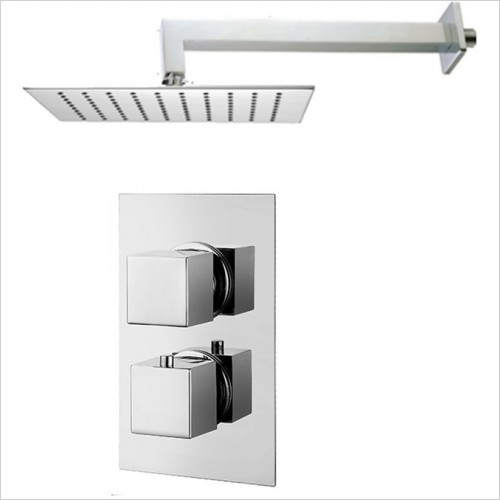 Art Of Living - Emotion Square Thermostatic Shower & Square Fixed Head