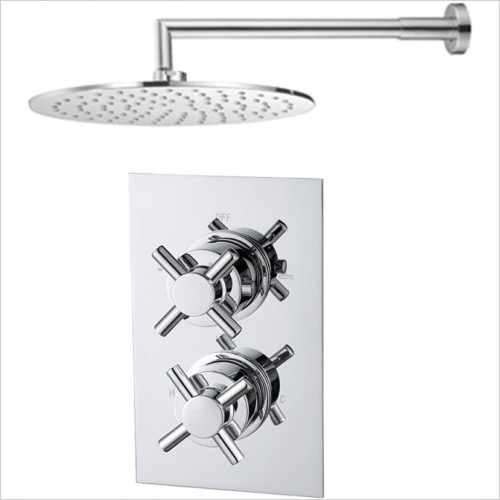 Art Of Living - Emotion Crosshead Thermostatic Shower & Round Fixed Head