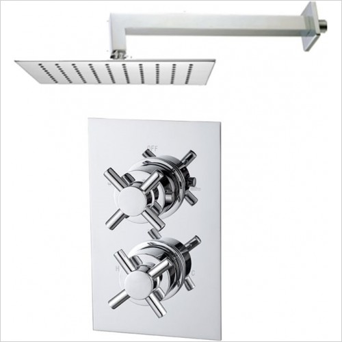 Art Of Living - Emotion Crosshead Thermostatic Shower & Square Fixed Head