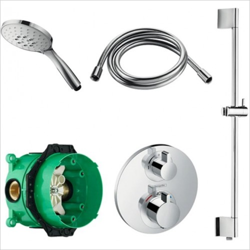 Art Of Living - Temptation Thermostatic Shower With Slide Rail Shower Set