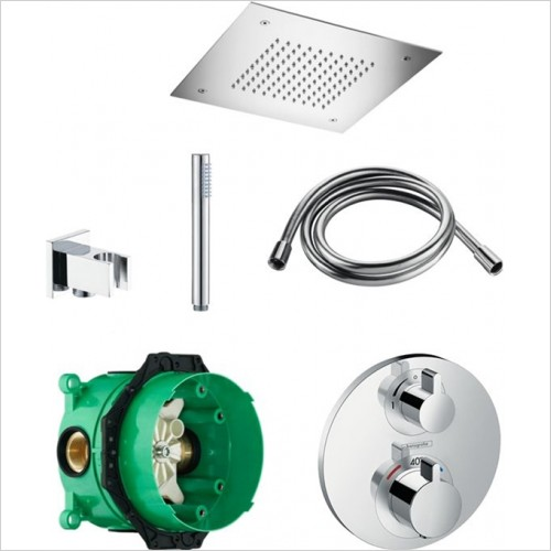Art Of Living - Temptation Thermostatic Shower, Ceiling Head & Handshower