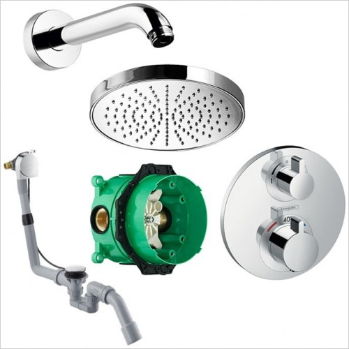 Art Of Living - Temptation Thermostatic Bath Filler Waste & Shower Kit