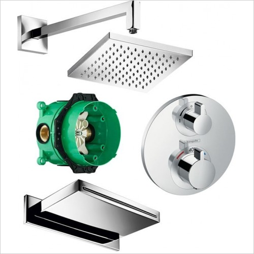Art Of Living - Temptation Thermostatic Bath Spout & Square Head Kit