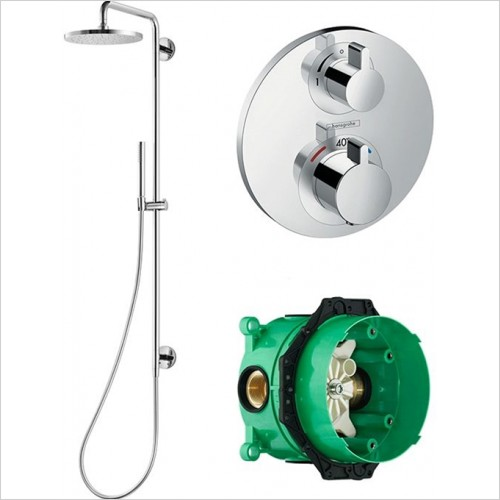 Art Of Living - Temptation Thermostatic Shower With Fluid Shower Column