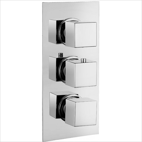 Art Of Living - Emotion Square Thermostatic Shower Mixer (3 Outlet)