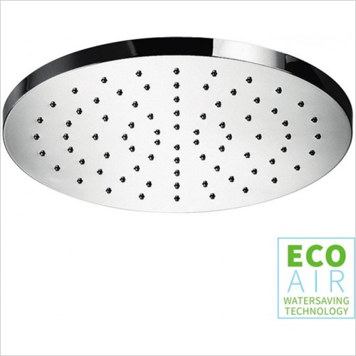 Art Of Living - Temptation Chrome Round Shower Head EcoAir 250mm