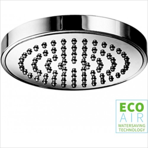 Art Of Living - Temptation Chrome Round Shower Head 100 EcoAir
