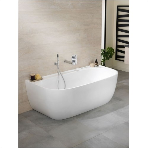 Victoria & Albert - Eldon Freestanding Back To Wall Bath, With Overflow