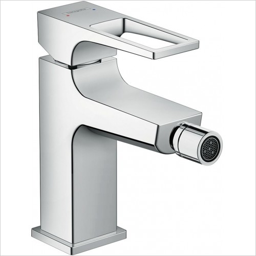 Hansgrohe - Metropol Bidet Mixer With Loop Handle & Push-Open Waste