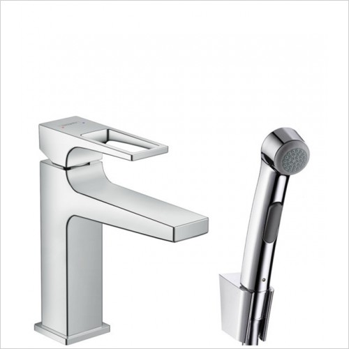 Hansgrohe - Metropol Loop Bidet 1Jet Hand Shower Basin Mixer Set 1.60m