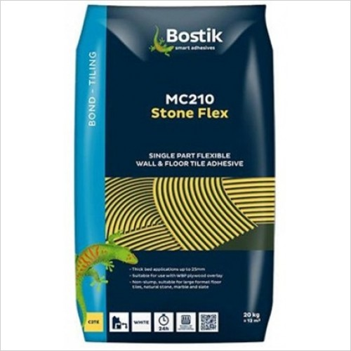 Bostik - MC210 Stone Flex Thick Bed White Tile Adhesive 20 KG